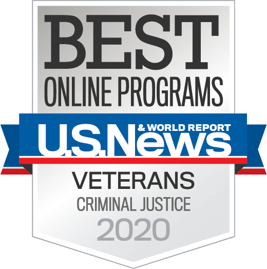 S News Badge: #2 Best Online Graduate Criminal Justice Programs for Veterans