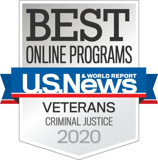 S News Badge: #2 Best Online Graduate Criminal Justice Programs for Veterans